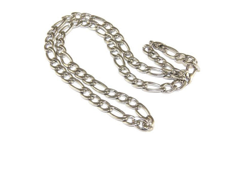 Stainless Steel Chain, Figaro Style, 45cm, with Clasp