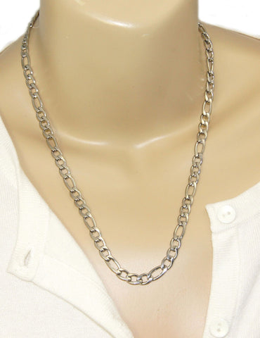 Long fancy stainbess steel chain necklace