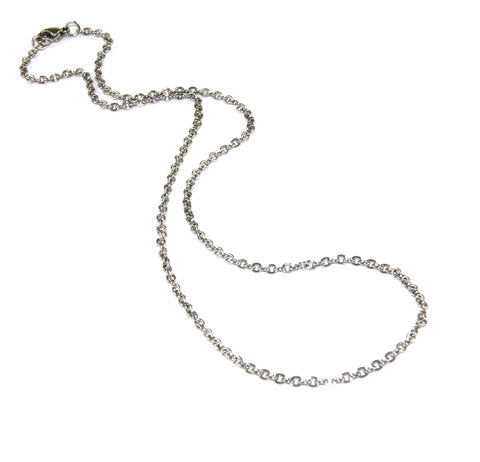 Stainless Steel Chain, 45cm with clasp - 3mm links