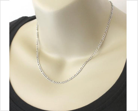 Stainless steel women chain figaro style