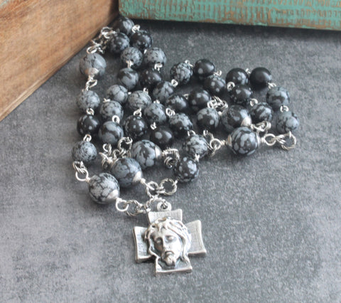 Holy Face chaplet rosary, Catholic prayer beads