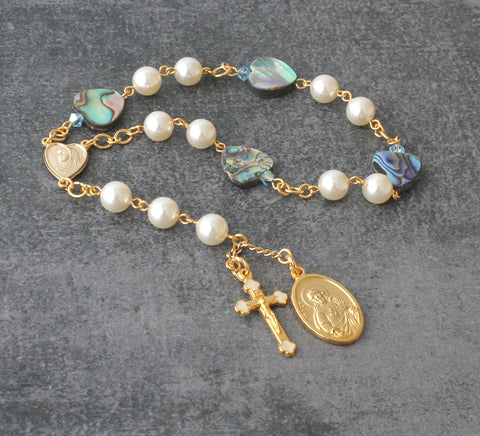 Our Lady Star of the Sea chaplet prayer beads
