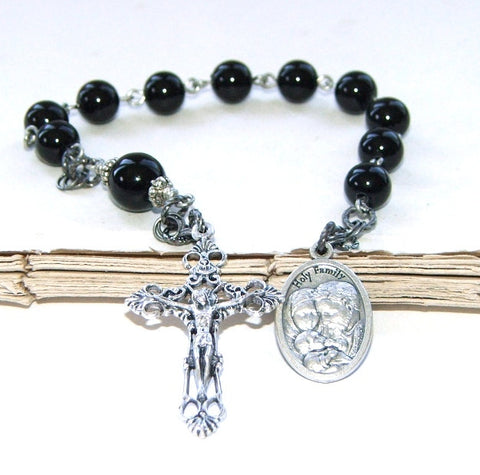 Catholic 1st Communion prayer beads for men