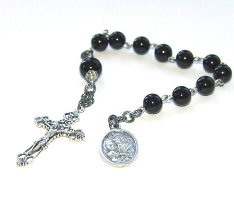 Black chaplet for boy, New Zealand made