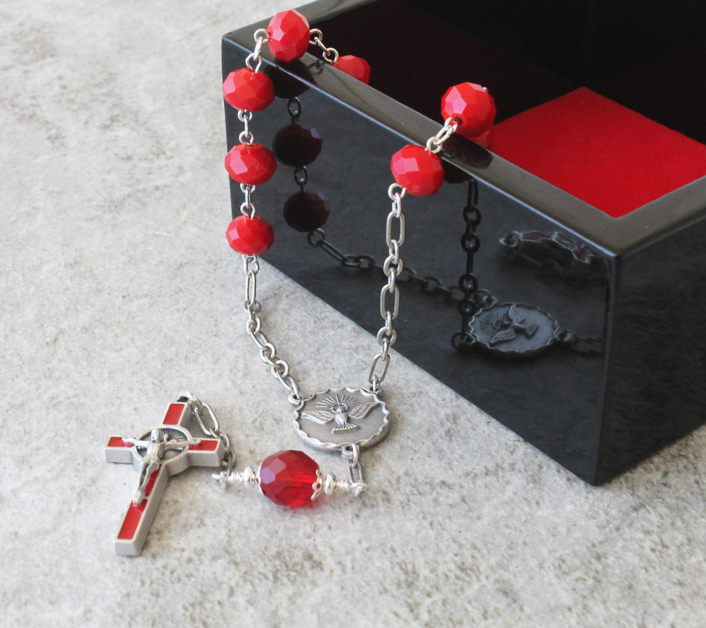 Boys confirmation gift, Holy Spirit chaplet rosary
