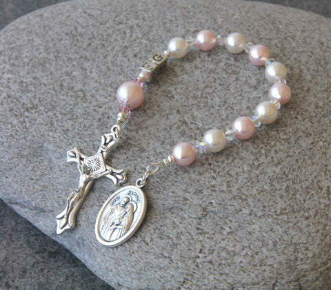 Girl's Personalized Confirmation Chaplet Rosary