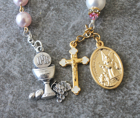 Guardian angel chaplet prayer beads