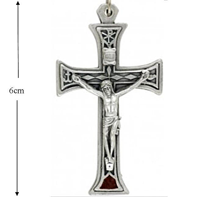 Chi Rho Crucifix, 6cm tall, Pendant or Rosary
