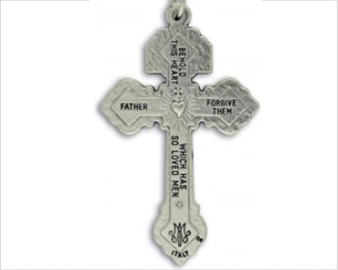 Silver Pewter Pardon Crucifix, 5.5cm tall