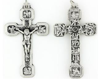 Stations of The Cross, Large Pewter Crucifix