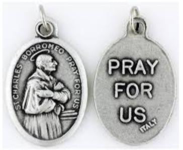 St Charles Borromeo Medal, Catholic Patron Saint of Learning & The Arts, Spiritual Leaders & Starch Makers