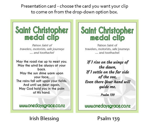 St Christopher Footprints Travel Clip