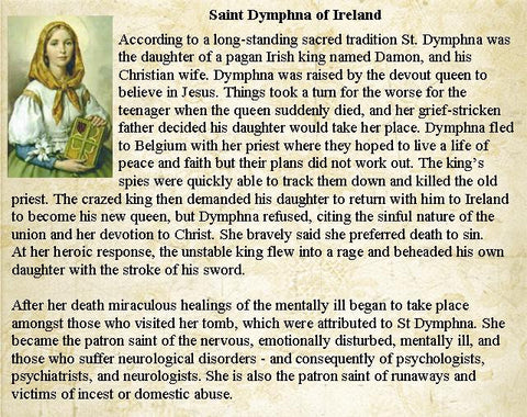 St Dymphna, Patron Saint of Stress, Anxiety & Mental Health