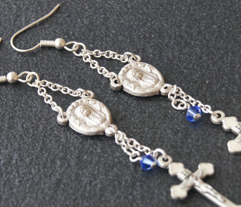 Mary and Angels, Catholic Earrings