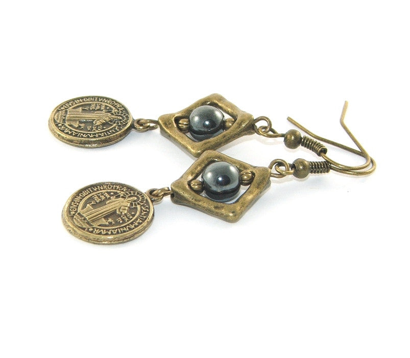 Saint Benedict earrings