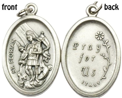St Floran Medal, Patron Saint of Firefighters, Soap Makers & Chimney Sweeps