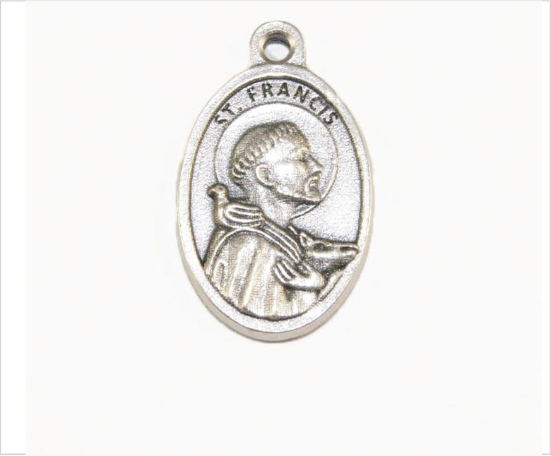 St Francis of Assisi Medal, Patron Saint of Animals, Environment