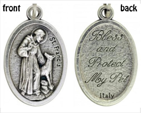St Francis of Assisi - Bless My Pet Medal