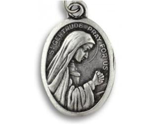 St Gertrude the Great Pewter Medal