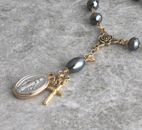 Miraculous Medal travel rosary one decade
