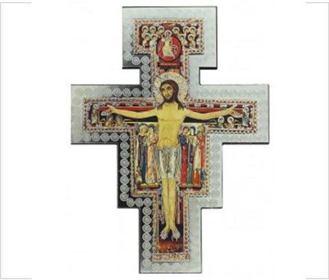 Religious icon wall cross San Damiano