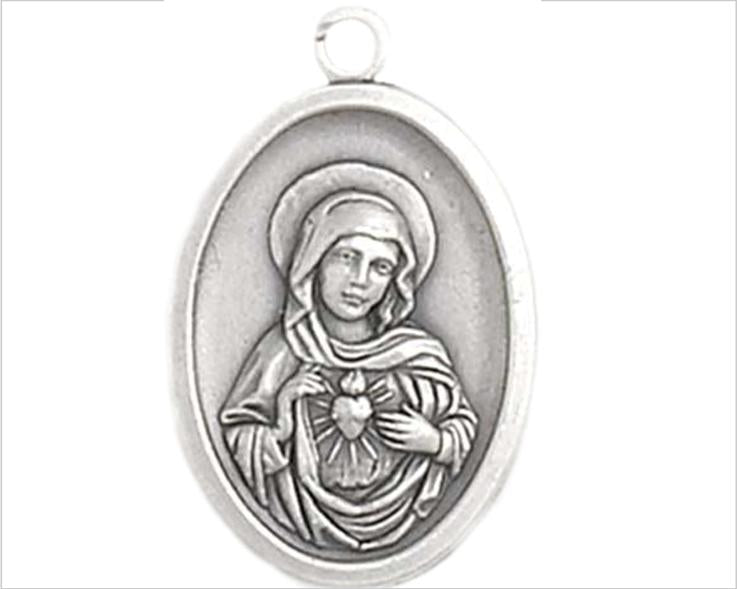 Immaculate Heart of Mary Pewter Medal