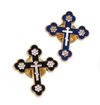 Catholic Lapel Pin, Budded Cross