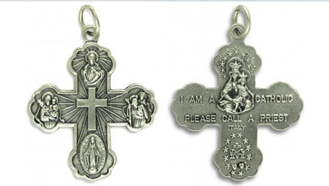 Catholic Cross, 4-Way Medal Pendant