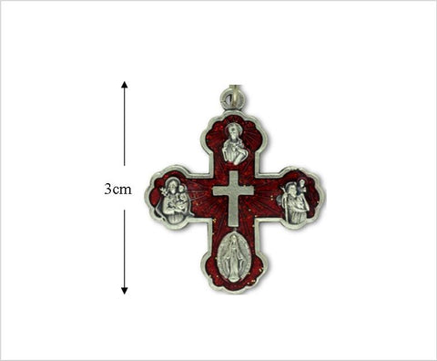 Catholic 4 way 5 way cross pendant