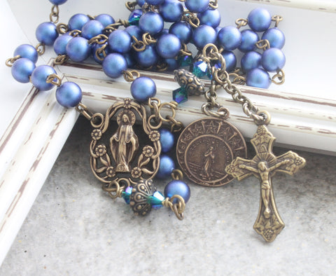 Our Lady Star of the Sea rosary, handmade New Zealand