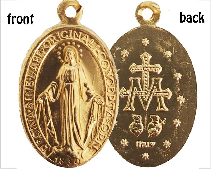 Miraculous Medal also known as the Immaculate Conception Medal