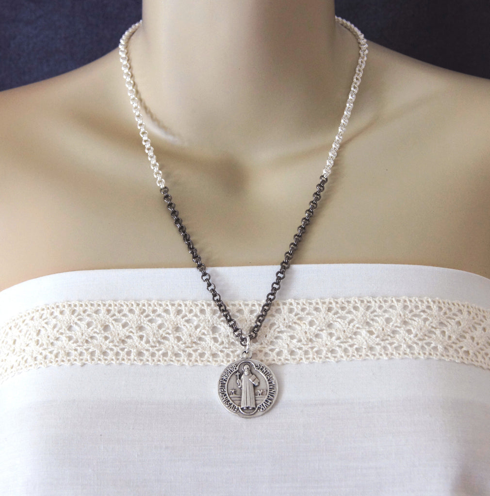 Saint Benedict pendant necklace, New Zealand Catholic shop