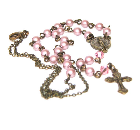 Rosary Necklace Catholic Jewellery, New Zealand made