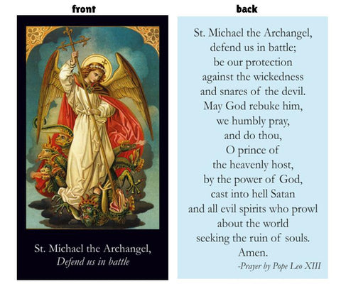Prayer Card - St Michael the Archangel
