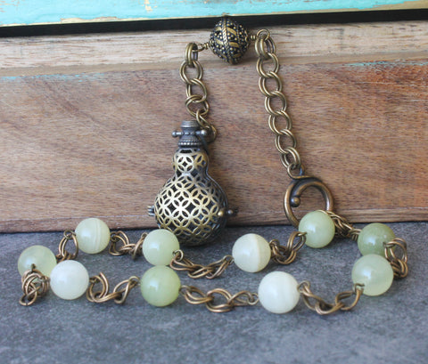 Paternoster Rosary with Pomander, Agate Beads