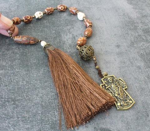St Michael Paternoster Rosary, Man's 'Niner' Middle Ages Style