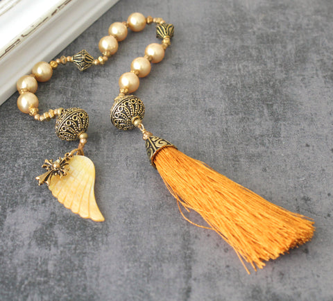 Woman's Paternoster Prayer Beads, Renaissance Style