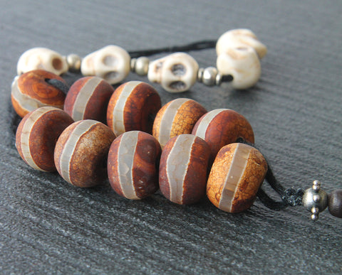 Memento Mori Pater Noster Beads - Middle Ages  Style