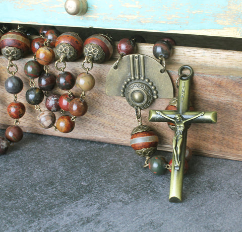 Big size rosary beads, handmade in New Zealand