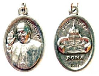 Pope Francis Medal, Silver Pewter