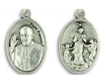 Pope Francis & Mary Untier of Knots Double-Sided Medal