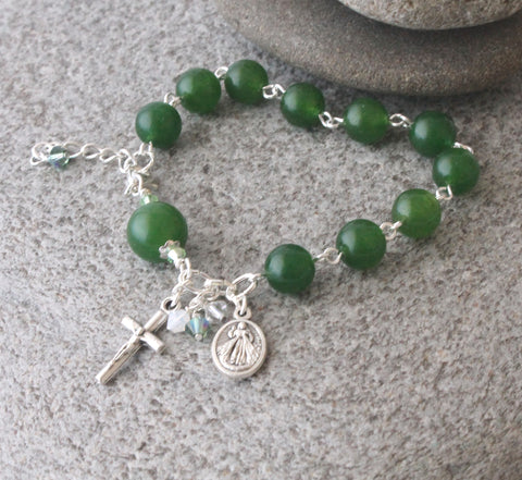 Divine Mercy & Our Lady Of Guadalupe Rosary Bracelet