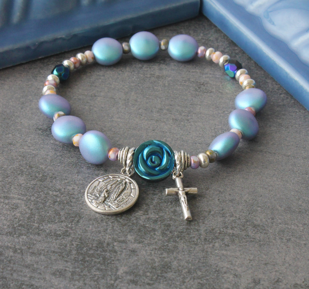 Saint Bernadette Prayer Bracelet, Our Lady of Lourdes