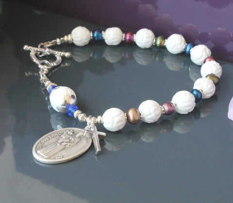 St Cayetano rosary bracelet, Catholic New Zealand shop