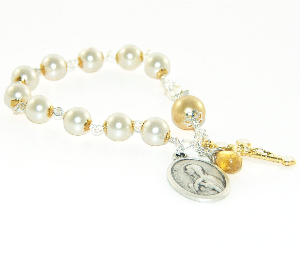 Catholic rosary bracelet made in New Zealand