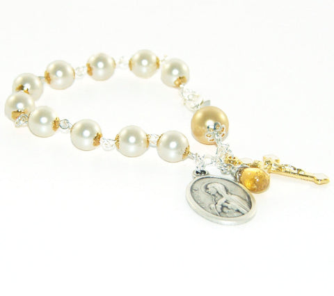 St Monica Rosary Bracelet, Mother's Gift