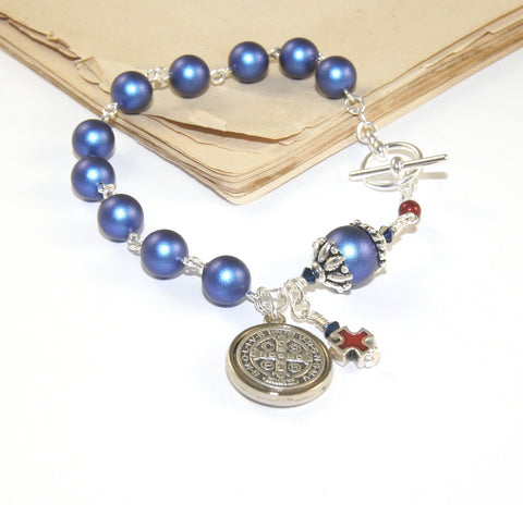 New Zealand made Catholic jewelry, Swarovski pearls