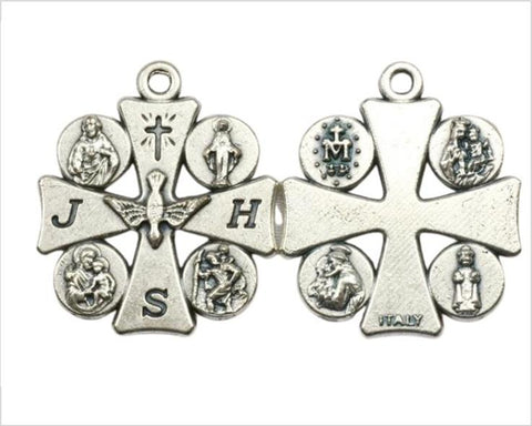 Catholic 4 or 5 Way Cross Medal