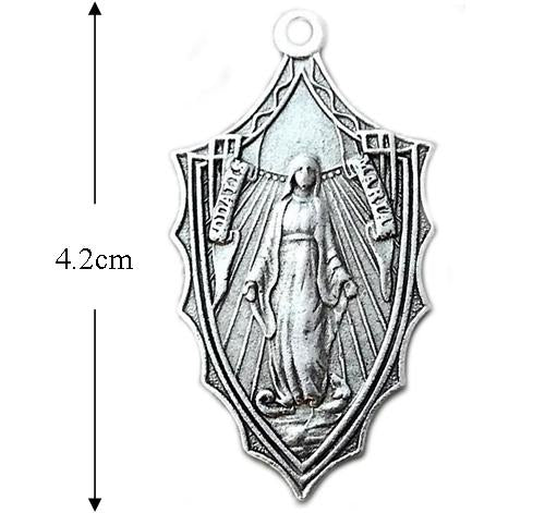 Sodalis Mariae Medal with Sacred Heart silver pewter
