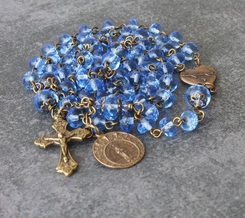 Stella Maris Rosary, 6 Decade Catholic Rosary, Brigittine or Carmelite Rosary Beads